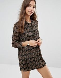 Платье-туника со шнуровкой Only - Черный