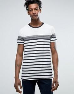 Меланжевая футболка стандартного кроя в черно-белую полоску BOSS Orange by Hugo Boss - Белый