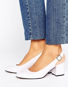 Туфли на каблуке с открытой пяткой London Rebel - Фиолетовый