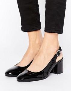 Туфли на каблуке с открытой пяткой London Rebel - Черный