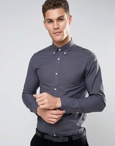 Оксфордская рубашка Jack & Jones Premium - Серый