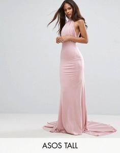 Платье макси с открытой спинкой City Goddess Tall - Розовый
