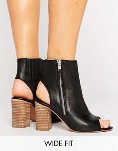 Кожаные туфли для широкой стопы ASOS EARNEST - Черный