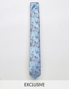 Жаккардовый галстук с цветочным узором Noose & Monkey - Синий