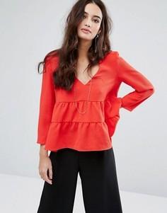 Блузка с открытой спиной BA&SH - Красный Ba&Sh