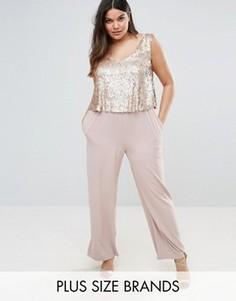 Комбинезон с пайетками на лифе Elvi Premium - Розовый