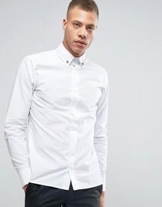 Рубашка зауженного кроя с уголками для воротника Rogues of London - Белый