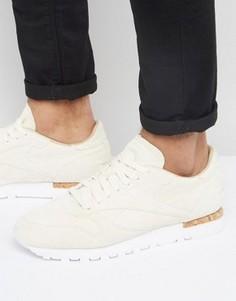 Белые замшевые классические кроссовки Reebok LST BD1902 - Белый