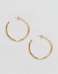 Эффектные серьги-кольца Ottoman Hands - Золотой