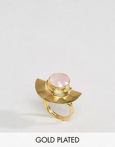 Кольцо с камнем и полумесяцем Ottoman Hands - Золотой