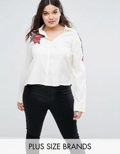 Рубашка с вышивкой Boohoo Plus - Белый