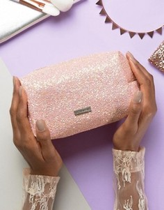 Skinnydip Peach Glitter Make Up Bag - Оранжевый