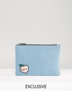Skinnydip Exclusive Lifes A Peach Denim Pouch - Синий