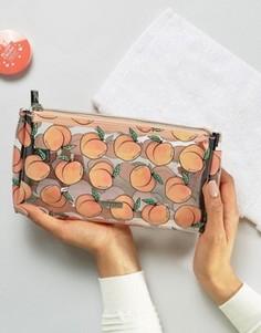 Косметичка с принтом персиков Skinnydip - Мульти