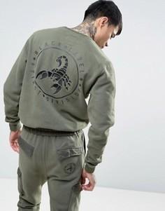 Свитшот с вышитым скорпионом на спине Cayler & Sons - Зеленый