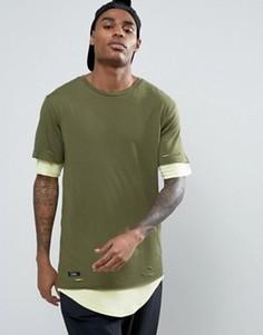 Длинная двухслойная футболка Cayler & Sons - Зеленый