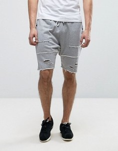 Cayler & Sons Drop Crotch Shorts With Distressing - Серый