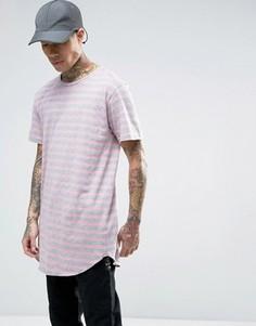 Длинная футболка в полоску Cayler & Sons - Розовый