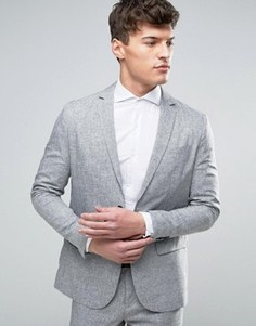 Узкий пиджак Jack & Jones - Серый