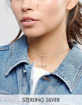 Серебряное ожерелье-чокер ASOS - Серебряный
