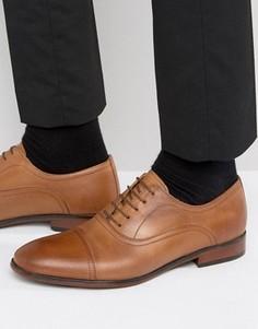 Светло-коричневые кожаные оксфордские туфли Red Tape - Рыжий