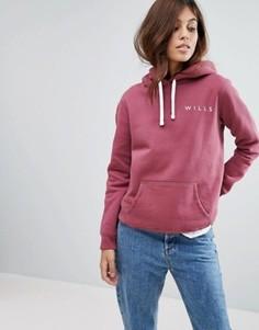Свободный oversize-худи с логотипом Jack Wills Motherby - Красный