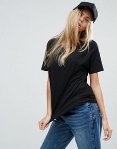 Свободная футболка с рукавами реглан ASOS - Черный
