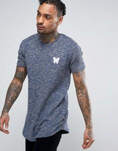 Темно-синяя камуфляжная футболка с выцветшим эффектом Good For Nothing - Темно-синий
