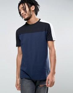 Темно-синяя футболка New Look - Темно-синий