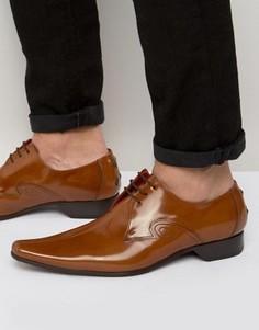 Туфли с прострочкой по центру Jeffery West - Коричневый