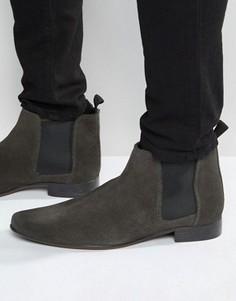 Замшевые ботинки ASOS Chelsea - Серый