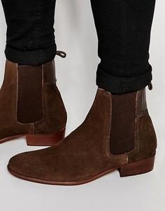 Замшевые ботинки челси Hudson London Watts - Коричневый