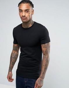 Облегающая футболка с круглым вырезом ASOS - Черный