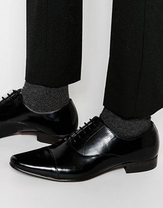 Кожаные черные оксфордские туфли со вставкой на носке ASOS - Черный