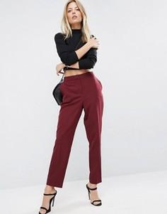 Приталенные брюки ASOS Premium - Красный