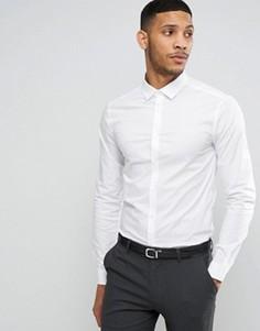 Зауженная белая рубашка с длинными рукавами ASOS - Белый
