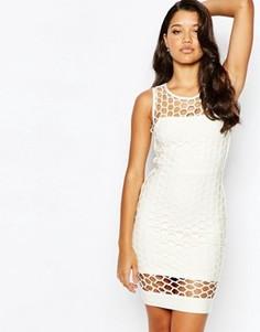 Облегающее платье-бандаж Forever Unique - Белый