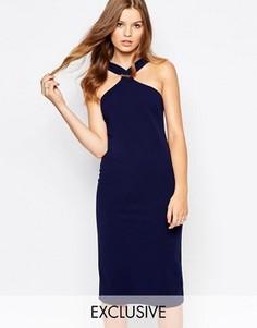 Платье-футляр миди Twin Sister - Темно-синий