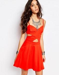 Платье мини Wyldr Peek-a-boo - Красный