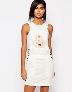 Платье-комбинезон с вышивкой в стиле вестерн Vero Moda - Белый