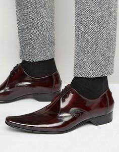 Кожаные туфли со швом посередине Jeffery West - Красный