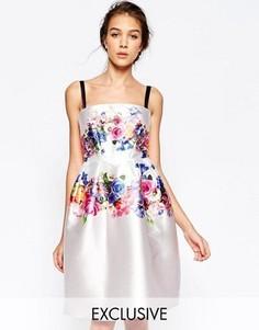 Структурированное платье с цветочным принтом Hope and Ivy - Мульти