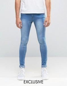 Светлые супероблегающие эластичные джинсы Liquor & Poker - Синий
