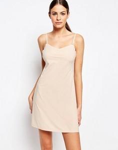 Платье-комбинация с глубоким вырезом сзади Spanx - Бежевый