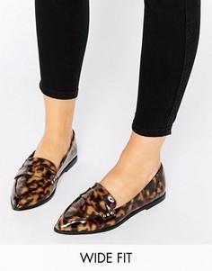 Туфли на плоской подошве для широкой стопы ASOS MARIKA - Мульти