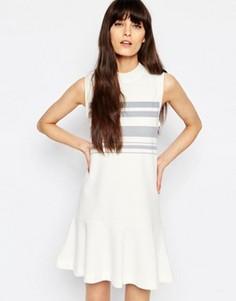 Платье с заниженной талией Samsoe & Samsoe Apin - Кремовый