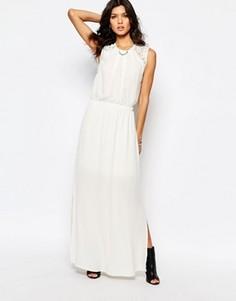 Платье макси Y.A.S London - Кремовый