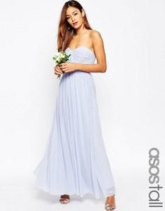 Сетчатое платье‑трансформер макси ASOS TALL WEDDING - Синий
