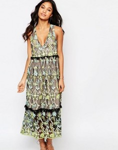 Платье миди с вышивкой Foxiedox Zuma - Мульти