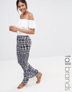 Широкие брюки с мозаичным принтом Vero Moda Tall - Мульти